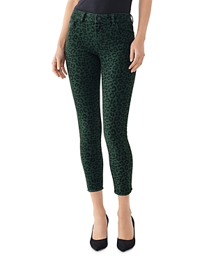 DL1961 Florence Cropped Skinny Jeans in Snow Leopard-Women
