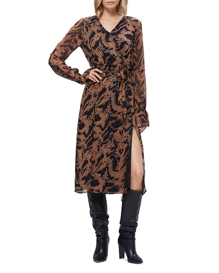PAIGE - Silk Printed Faux-Wrap Dress