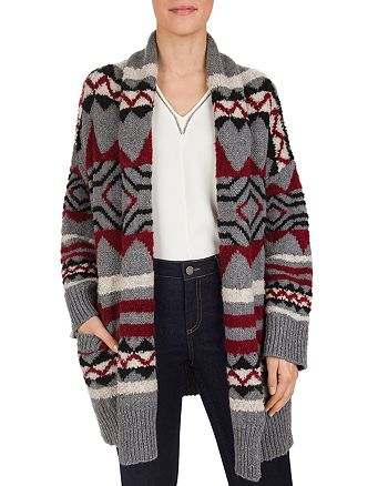 Gerard Darel - Shadow Belted Shawl-Collar Cardigan