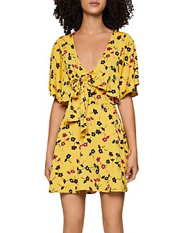 BCBGENERATION - Flutter-Sleeve Tie-Front Dress
