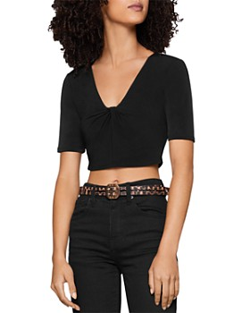 BCBGENERATION - Twist-Front Cropped Top