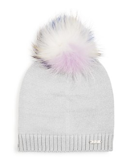 GiGi - Glitter Rainbow Fox Fur Pom-Pom Hat - 100% Exclusive