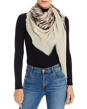 Wavy Lines Patch Scarf