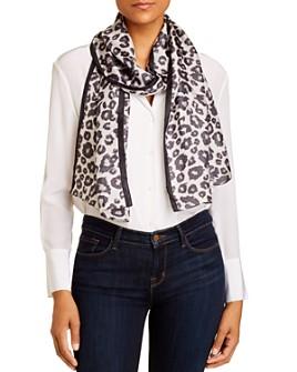 Echo - Leopard Print Silk Scarf