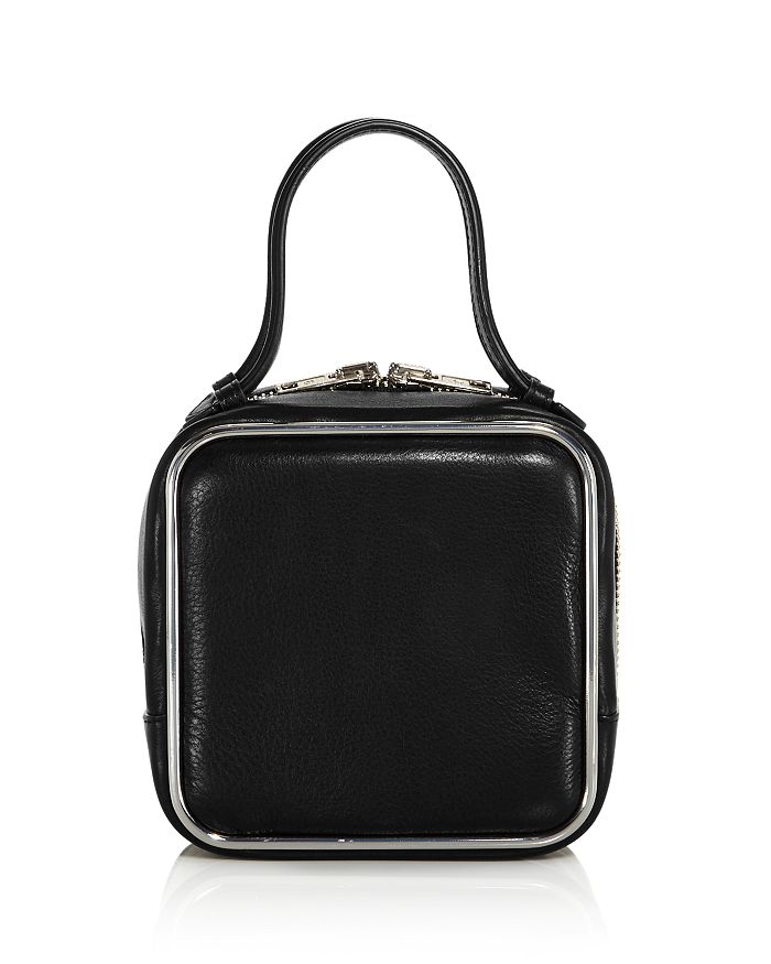 Alexander Wang Halo Top Handle Bag In Black/Silver