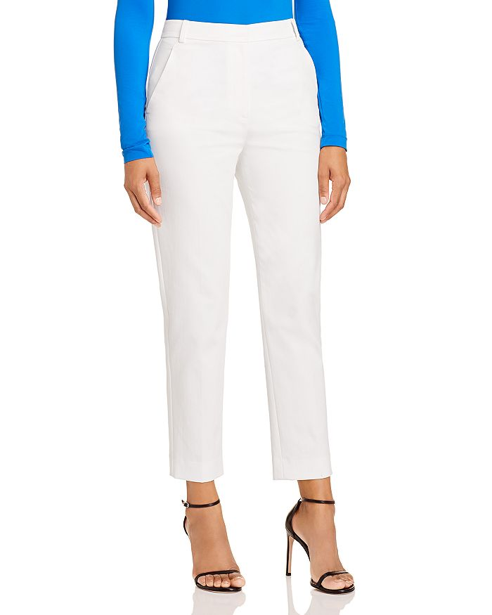 St. John - Cropped Tapered Cotton-Stretch Pants