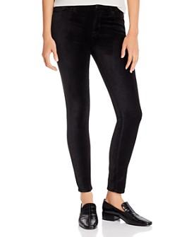 7 For All Mankind - Velvet Skinny Ankle Jeans in Black