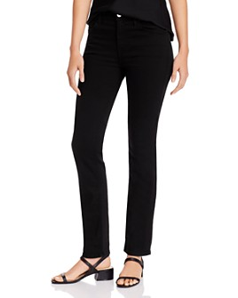 7 For All Mankind - Slim Straight-Leg Jeans in Black