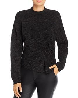 Michelle Mason - Metallic Twist Ribbed Sweater