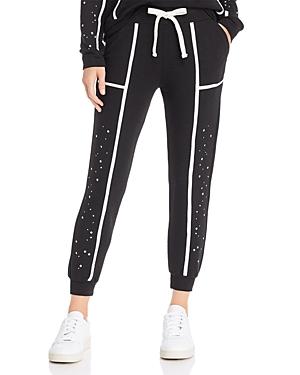 Monrow Pants STAR-PANEL SWEATPANTS