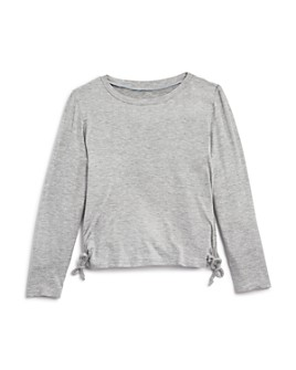AQUA - Girls' Ruched Long Sleeve Tee, Big Kid - 100% Exclusive