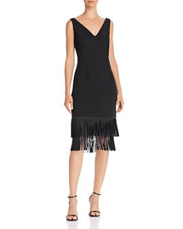 Adrianna Papell - Ottoman Fringe Cocktail Dress