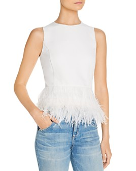 Lucy Paris - Feather Trim Top - 100% Exclusive