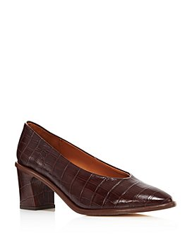 Miista - Women's Bernadette Croc-Embossed Pumps