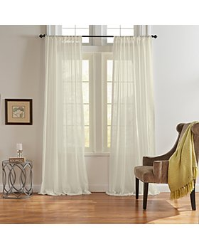 Elrene Home Fashions - Asher Cotton Voile Sheer Curtain Panels