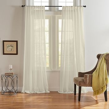 """Elrene Home Fashions - Asher Cotton Voile Sheer Curtain Panel, 52"""" x 95"""""""