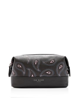 Ted Baker - Tarrt Printed Faux Leather Wash Bag