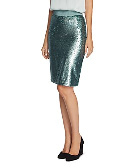 VINCE CAMUTO - Sequined Pencil Skirt