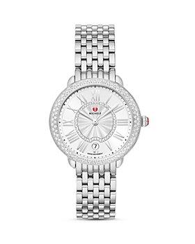 MICHELE - Serein Mid Stainless Steel Diamond Watch, 34mm x 36mm