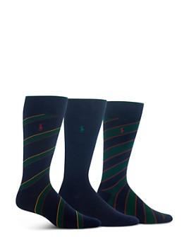 Polo Ralph Lauren - Diagonal Stripe Socks - Pack of 3