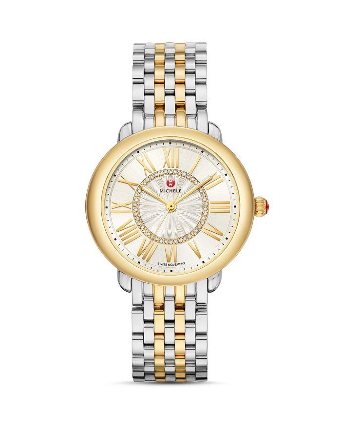 MICHELE - Serein Mid Two-Tone Diamond Watch, 37mm