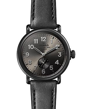 Shinola The Runwell Black Leather Strap Watch, 41mm-Jewelry & Accessories