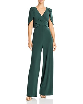 Adrianna Papell - Draped Jersey Capelet Jumpsuit