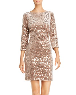 Eliza J - Velvet & Sequin Sheath Dress