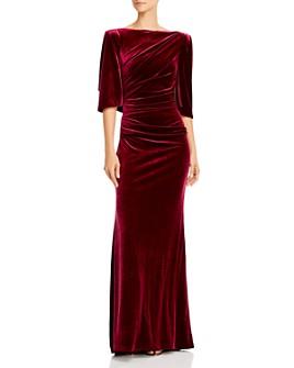 Eliza J - Velvet Capelet Gown