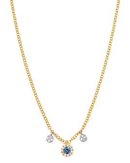 Meira T - 14K Yellow Gold & 14K White Gold Blue Sapphire & Diamond Necklace, 18""