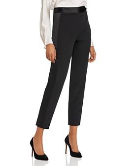MILLY - Cady Tuxedo Stripe Skinny Ankle Pants