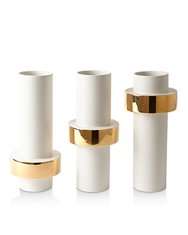 Global Views - Goldtone-Ring Vase Collection