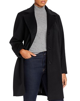 Calvin Klein Plus - Long Wool-Blend Coat