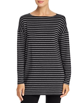 Eileen Fisher - Striped Tunic Tee