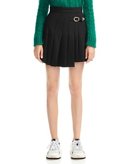 Maje - Jino Asymmetric Pleated Skirt