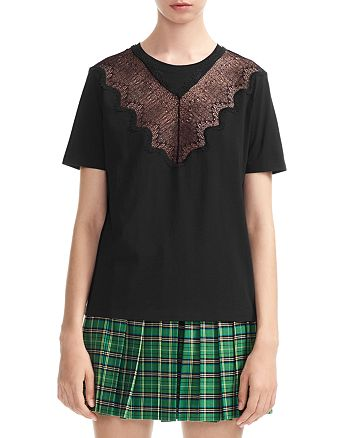 Maje - Talent Lace-Detail Tee