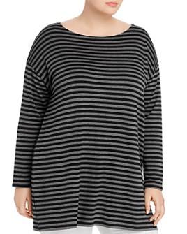 Eileen Fisher Plus - Striped Tunic Tee
