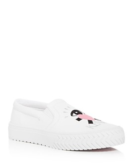 Kenzo - Women's K-Skate Embroidered Low-Top Sneakers