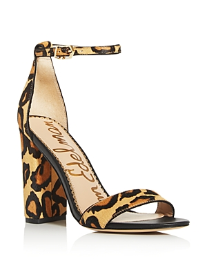 Sam Edelman Women's Yaro Animal-Print High-Heel Sandals