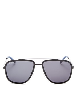 Salvatore Ferragamo - Men's Brow Bar Aviator Sunglasses, 57mm