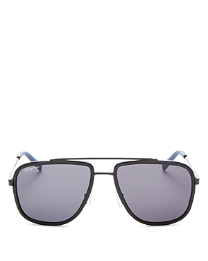 Salvatore Ferragamo Sunglasses MEN'S BROW BAR AVIATOR SUNGLASSES, 57MM