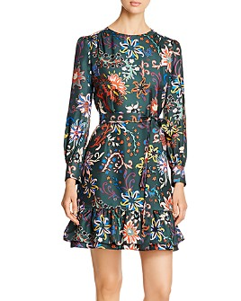 Tory Burch - Printed Silk Twill Shift Dress
