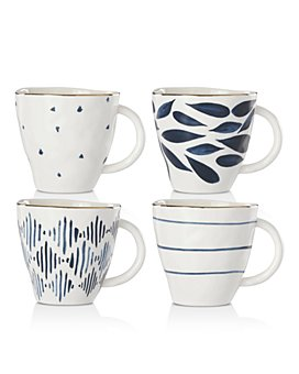 Lenox - Blue Bay Dessert Mugs, Set of 4
