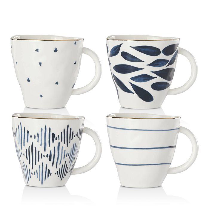 Lenox - Blue Bay Dessert Mugs, Set of 4