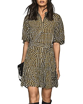 REISS - Ottoline Spotted Mini Dress