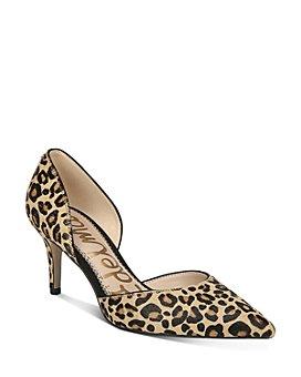 Sam Edelman - Women's Jaina Leopard-Print d'Orsay Pumps