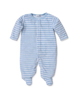 Kissy Kissy Boys' Striped Velour Footie - Baby