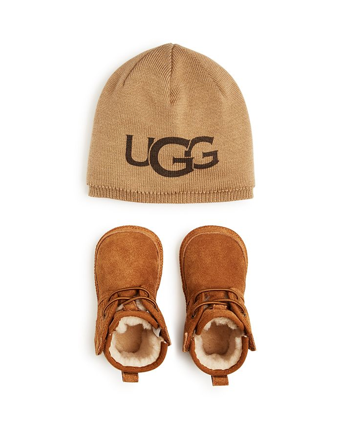 UGG® - Girls' Baby Neumel Booties & Beanie Set - Baby