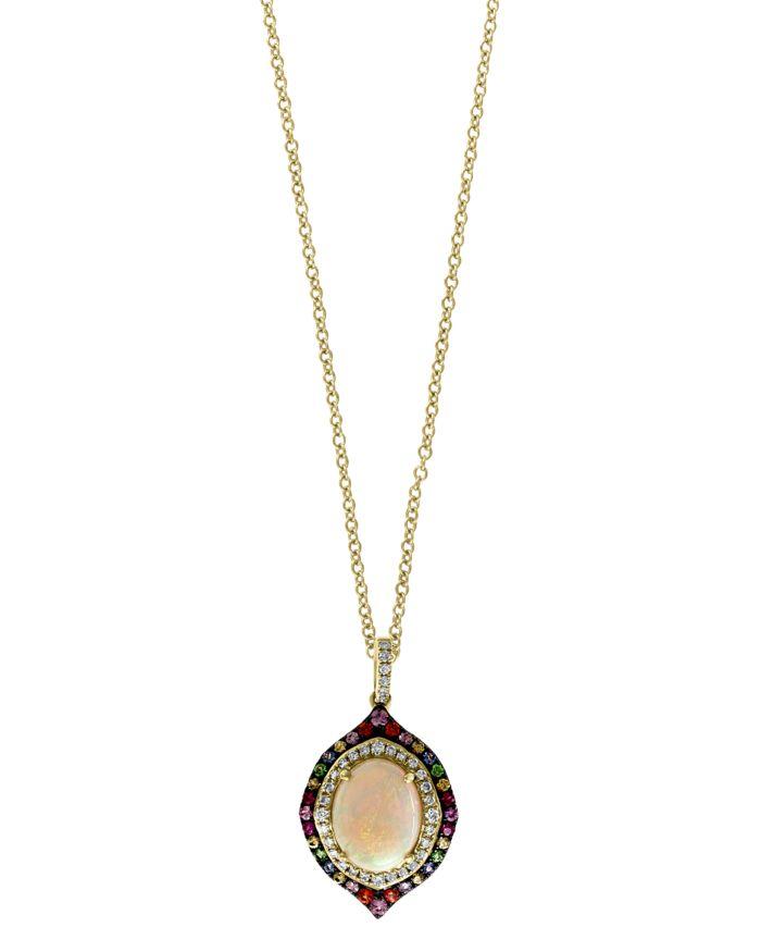 "Bloomingdale's Rainbow Gemstone & Diamond Pendant Necklace in 14K Yellow Gold, 18"" - 100% Exclusive  | Bloomingdale's"