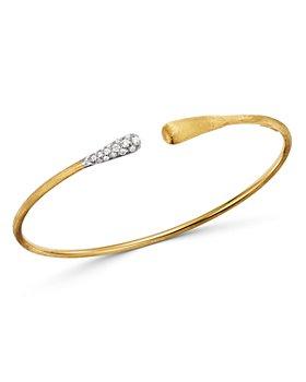 Marco Bicego - 18K Yellow & White Gold Lucia Diamond Open Bangle Bracelet